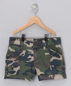 Take a look at this Camouflage Cargo Shorts - Girls by !iT Jeans on #zulily today!