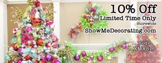 Christmas Decorations- #SAVE 10% on all your #Christmasdecorations from the BEST #Christmas site #Couponcode xmas10 http://www.showmedecorating.com