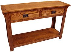 Our American Mission Oak Collection is a beautiful example of traditional Mission furniture showcasing clean lines and a full-grain expression. Mission Furniture, Rustic Furniture, Mission Oak, Dovetail Drawers, Solid Oak, Clean Lines, Console Table, Entryway Tables, Christmas Ideas