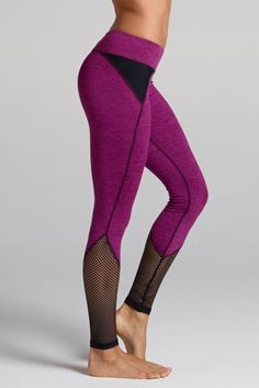 Demi Mesh Panel Legging in Heather Dye - Tap to find the products you love with the best unique designs.