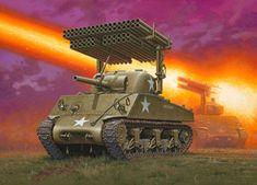 Maquette Revell 03074 M4A3 Sherman+Lance Roquette 1/35