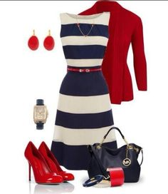 Cute Red White & Blue Outfit...