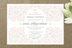 Elegant Piping Bridal Shower Invitations by Mandy Gordon at minted.com