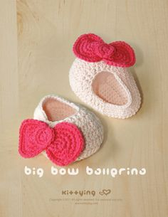Big Bow Ballerina Crochet PATTERN, SYMBOL DIAGRAM (pdf)