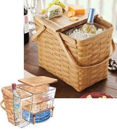 NEW Longaberger Beverage & Cheese Basket Set. New Beverage & Cheese Basket Set provides the perfect complement for your refined tastes. It's one guest that's sure to be invited back time and again. Tw