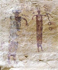 Barrier Canyon Style Rock Art Painting