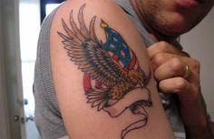 Patriotic Eagle Tattoos Patriotic eagle tattoo