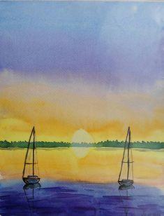 Mira este artículo en mi tienda de Etsy: https://www.etsy.com/es/listing/497178822/original-watercolor-sailing-boats