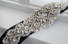 Wedding Belt Bridal Belt Sash Belt Crystal by WestaireBridal