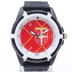 Serbia National Football Team Jerssy Design Souvenirs quartz watch Silicone Wristwatch