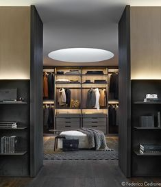 Explore the best of luxury closet design in a selection curated by Boca do Lobo to inspire interior designers looking to finish their projects. Discover unique walk-in closet setups by the best furniture makers out there Walk In Closet Design, Wardrobe Design, Closet Designs, Estilo Interior, Luxury Interior, Home Interior Design, French Interior, Design Interiors, Modern Interiors