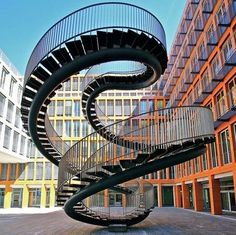 Infinite Staircase by Olafur Eliasson located at the entrance of the KPMG office building in Munich