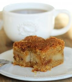 Cream Cheese Stuffed Coffee Cake - it melts in your mouth. http://chocolatecoveredkatie.com/2013/03/01/cream-cheese-stuffed-coffee-cake/