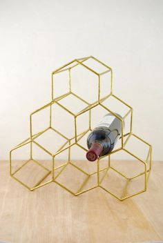 Wine Rack Honeycomb Gold 15x14in - seriously tempted to get this to house my foil and vinyl.