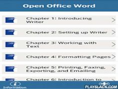 OpenOffice Writer Tutorial  Android App - playslack.com , OpenOffice.org, OOo or OpenOffice, is an open-source office productivity software suite whose main components are for word processing, spreadsheets, presentations, graphics, and databases.OpenOffice Writer This is the word processing feature in OpenOffice (similar to MS Word) Fanpage: http://facebook.com/apps1proTags: OpenOffice, Writer, Free apps