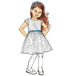 B6201, Children's/Girls' Dress
