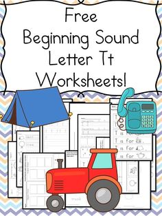 Beginning Sounds Letter T Worksheets Free Beginning Sounds Letter T worksheets to help you teach the letter T and the sound it makes to preschool or kindergarten students.