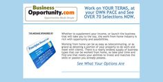 Learn more today www.businessopportunity.com #emailoftheday #businessopportunity