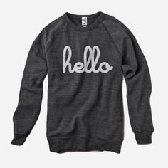 Hello (Adult) Eco-Black Champ Pullover by Hello Apparel for sale on hellomerch.com