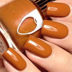 Fall Gel Nails, Fall Acrylic Nails, Fall Nail Polish, Fall Nail Colors, Nail Polish Colors, Nude Nails, My Nails, Coffin Nails, Neutral Nails