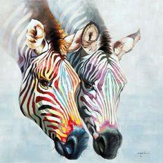 colorful zebra's