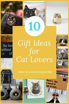 10 Gift ideas for Cat Lovers, Personalized gift guide for Crazy Cat Ladies & Cat owners Gifts For Dog Owners, Gifts For Pet Lovers, Dog Gifts, Cat Lovers, Crazy Cat Lady, Crazy Cats, Custom Dog Beds, Cat Themed Gifts, Pet Memorial Gifts