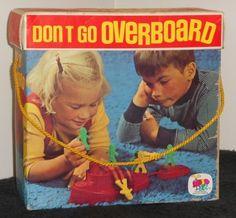Vintage 1971 Don't Go Overboard Game Schaper 470 Tugboat Sailors Magnets Spinner Dice $8