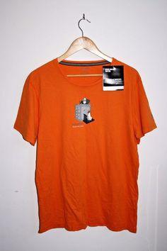 Craghoppers Activewear Short Sleeved T-shirt Orange Cotton Outdoor Sheep Dog L