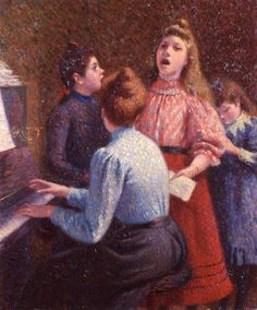 TICMUSart: The Singing Lesson - Federico Zandomeneghi (1890) (I.M.)