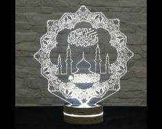 Mosque Shape, Ramadan Lights, 3D LED Lamp, Ramadan Decor, Amazing Effect, Calming Light, Plexiglass Lamp, Decorative Lamp, Acrylic Lamp by ArtisticLamps