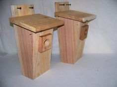 Bluebird House2 Houses Round Hole Entrance Works Great Handmade By Cedarnest -- Details on product can be viewed by clicking the image