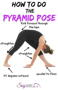 The Pyramid Pose (Parsvottanasana) is a standing yoga asana that combines the benefits of the forward bends, back bends and balancing moves.