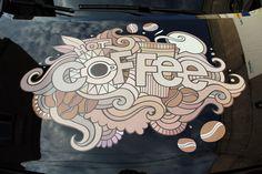 Оформление капота мобильной кофейни на базе Citroen Berlingo Уникальный дизайн разработанный на заводе MagicCoffeeClub 89250429329