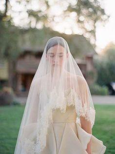 Long Bridal Veil - Not a big fan of long veils, but this is pretty.