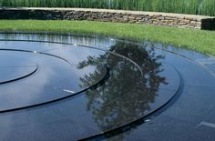 Black water features are extremely reflective
