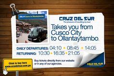 Cruz del Sur - Portal Web (bus Cusco - Puno)