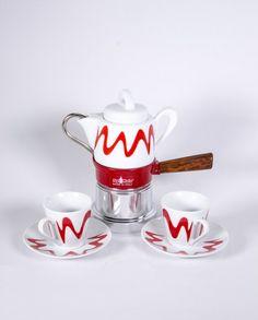 Espressokocher - Top Moka Premium - Kanne - rot Sugar Bowl, Bowl Set, Coffee Maker, Tableware, Felt Tutorial, Mocha, Kaffee, Red, Tutorials