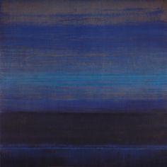 """Indus-light Nachtblau"" by Bruno Kurz Acrylic and synthetic organza on metal"