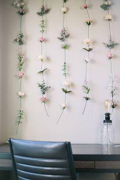 DIY Flower Wall // Gemma Darr