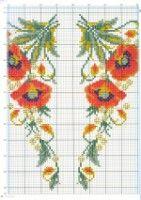 "Gallery.ru / irisha-ira - Альбом ""7"" Cross Stitch Flowers, Cross Stitch Patterns, Poppies, Needlework, Embroidery, Tableware, Anne, Kitchen, Perfect Love"