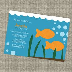 fish party Party Time Pinterest Fish Party invitations and
