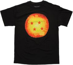 Dragon Ball Z Four Star Dragon Ball Black T-Shirt