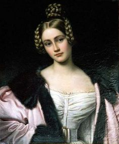 Caroline von Holnstein, 1834. Joseph Karl Stieler (1781–1858) German painter.