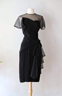 Vintage 1950s Dorothy O'Hara Cocktail Dress  by xtabayvintage