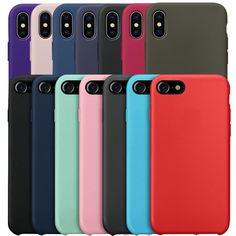 Original Have LOGO Official Silicone Case for iPhone 6 6S Plus For Apple For iPhone 7 Plus Phone Cover For iPhone X 8 Plus case