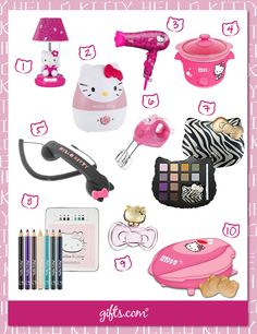 The 10 cutest Hello Kitty Gifts Ever! On: http://blog.gifts.com/gift-trends/top-10-cutest-hello-kitty-gifts#