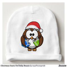 Christmas Santa Owl Baby Beanie