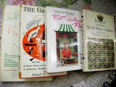 Quartet of  rare vintage hardcover Cookbooks by ArtandBookShop, $10.00