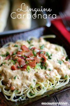 Eat Cake For Dinner: Linguine Carbonara Plus Mormon Mama Italian Cookbook Review and GIVEAWAY