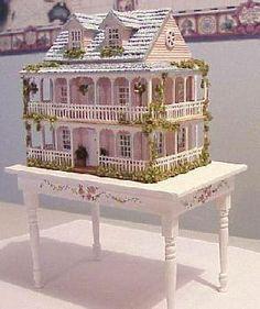 Gorgeous pink dollhouse